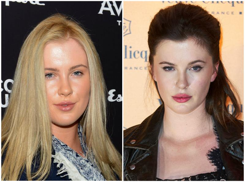 Ireland Baldwin`s eyes and hair color