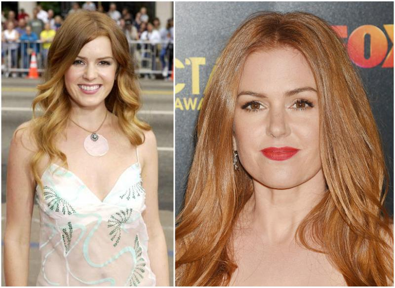 Isla Fisher`s eyes and hair color