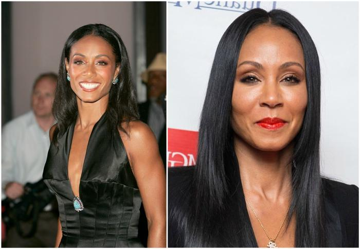 Jada Pinkett–Smith`s eyes and hair color