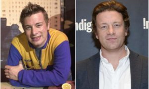 Jamie Oliver`s eyes and hair color