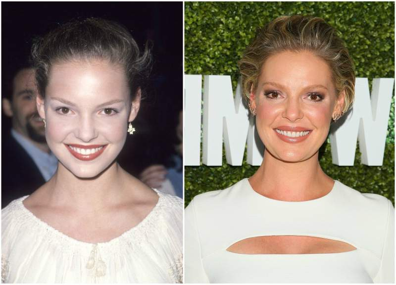 Katherine Heigl`s eyes and hair color