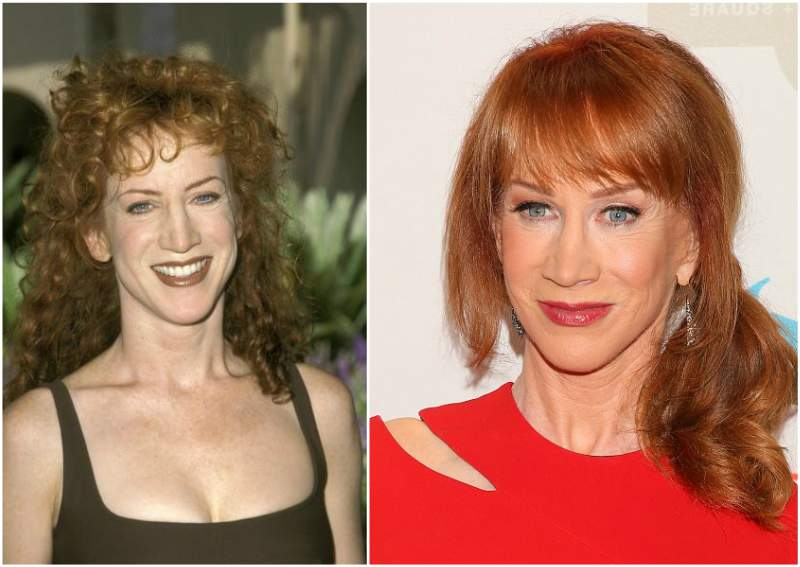 Kathy Griffin`s eyes and hair color