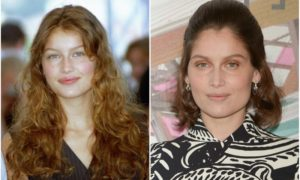 Laetitia Casta`s eyes and hair color