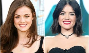 Lucy Hale`s eyes and hair color