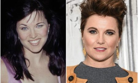 Lucy Lawless` eyes and hair color