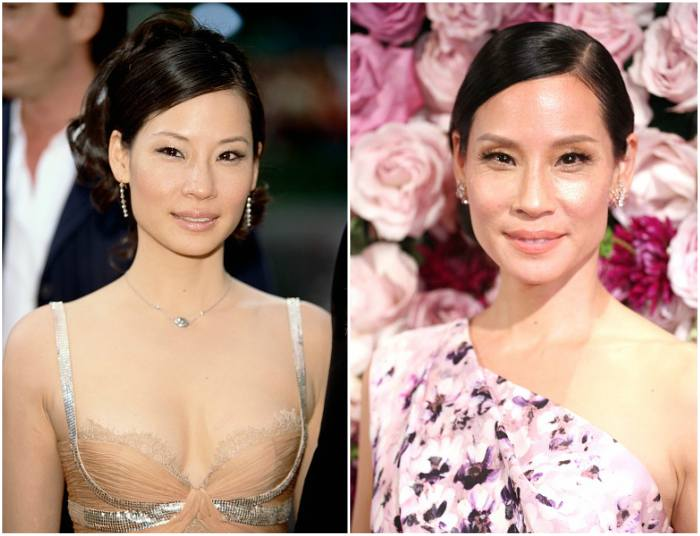 Lucy Liu`s eyes and hair color