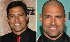 Manu Bennett`s eyes and hair color
