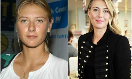 Maria Sharapova's eyes and hair color