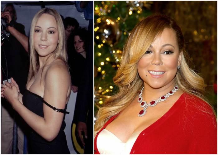 Mariah Carey`s eyes and hair color