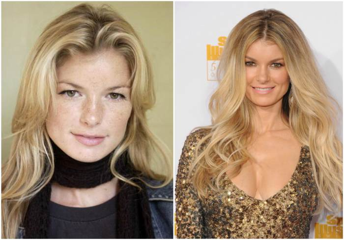 Marisa Miller`s eyes and hair color