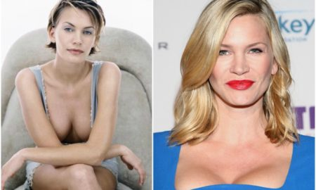 Natasha Henstridge`s eyes and hair color