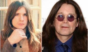 Ozzy Osbourne`s eyes and hair color