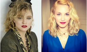 Madonna`s eyes and hair color