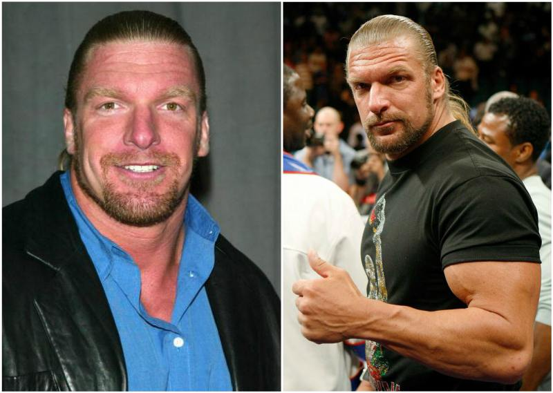 Triple H eyes and hair color