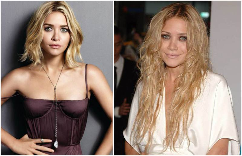 Ashley Olsen's eyes and hair color