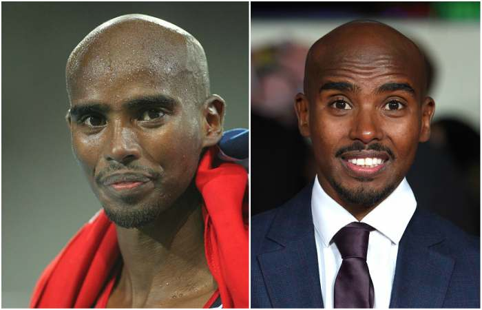 Mo Farah`s eyes and hair color
