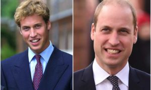 Prince William's eyes and hair color
