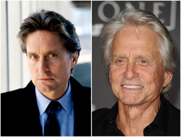 Michael Douglas' eyes and hair color