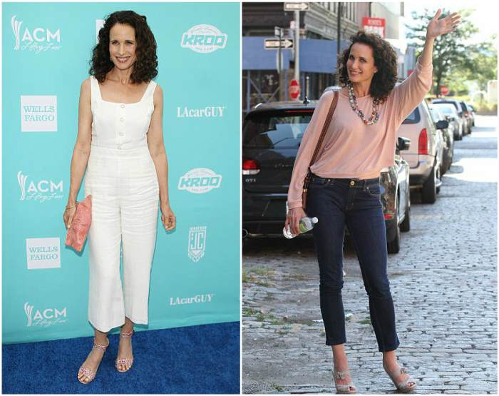 Andie MacDowell's height, weight and body measurements