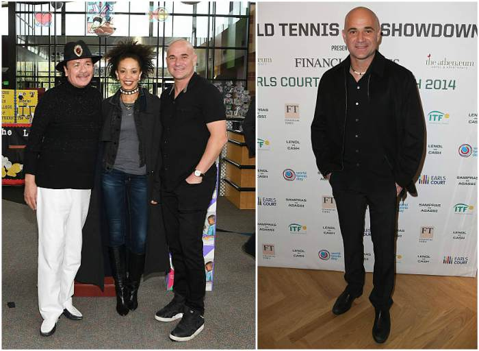 Andre Agassi's height, weight and body measurements