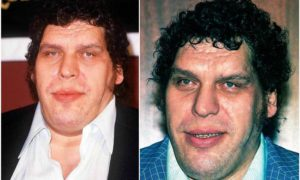 Andre The Giant's eyes and hair color