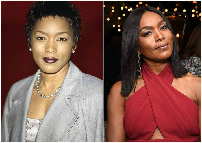 Angela Bassett's eyes and hair color