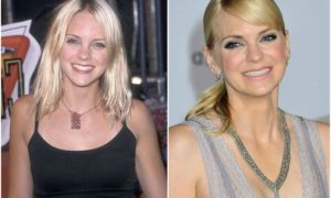 Anna Faris' eyes and hair color