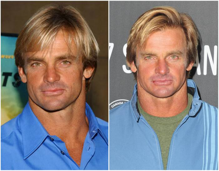 Laird Hamilton`s eyes and hair color
