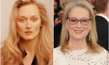 Meryl Streep's eyes and hair color
