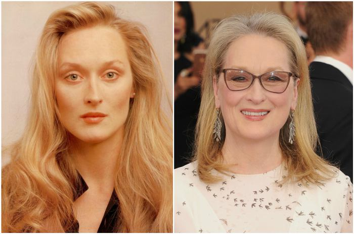 Meryl Streep's eyes and hair color