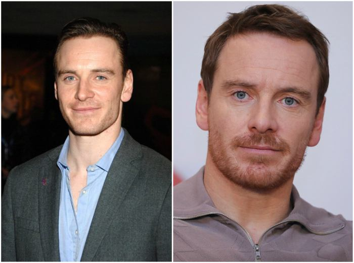 Michael Fassbender's eyes and hair color