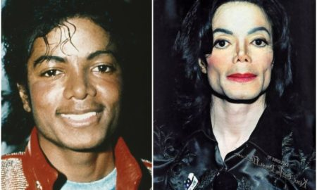 Michael Jackson's eyes and hair color