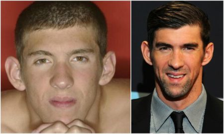 Michael Phelps' eyes and hair color