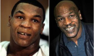 Mike Tyson's eyes and hair color