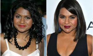 Mindy Kaling`s eyes and hair color