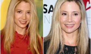 Mira Sorvino`s eyes and hair color