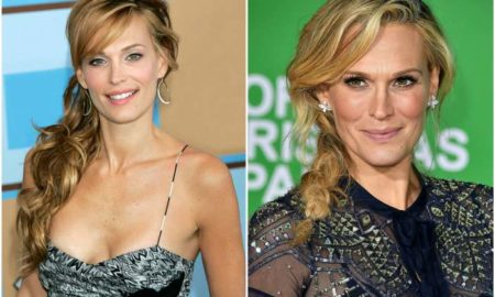 Molly Sims` eyes and hair color