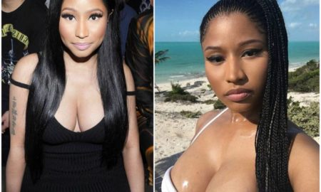 Nicki Minaj's eyes and hair color