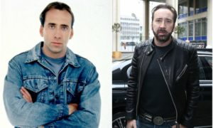 Nicolas Cage's eyes and hair color