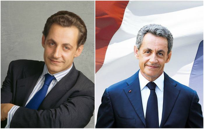 Nicolas Sarkozy's eyes and hair color