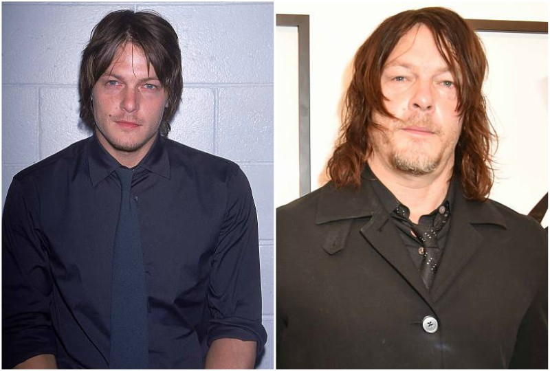 Norman Reedus' eyes and hair color