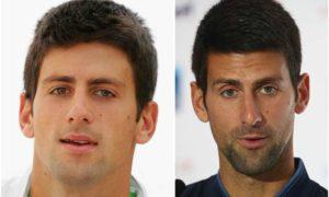 Novak Djokovic's eyes and hair color