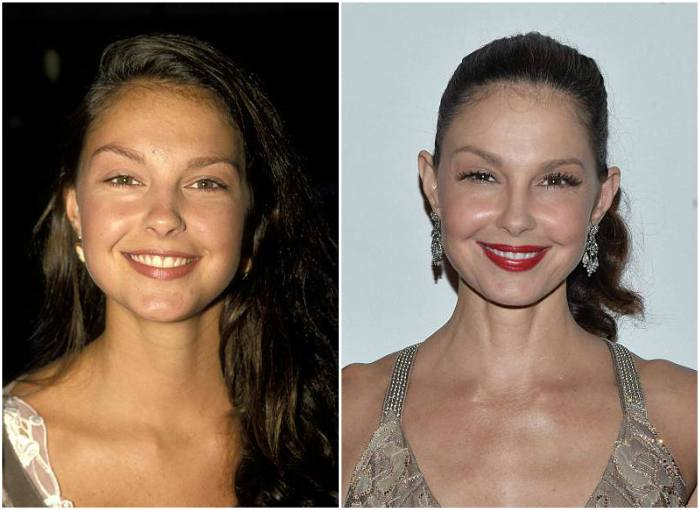 Ashley Judd's eyes and hair color