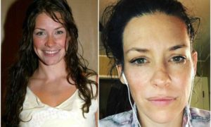Evangeline Lilly's eyes and hair color