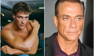 Jean-Claude Van Damme's eyes and hair color