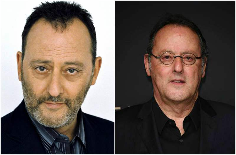 Jean Reno's eyes and hair color