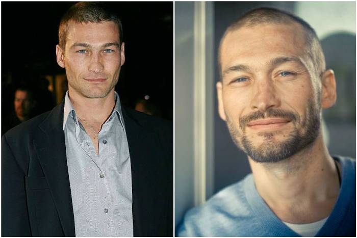 Andy Whitfield's eyes and hair color