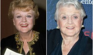 Angela Lansbury's eyes and hair color