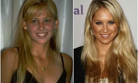 Anna Kournikova's eyes and hair color