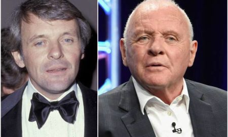 Sir Anthony Hopkins' eyes and hair color
